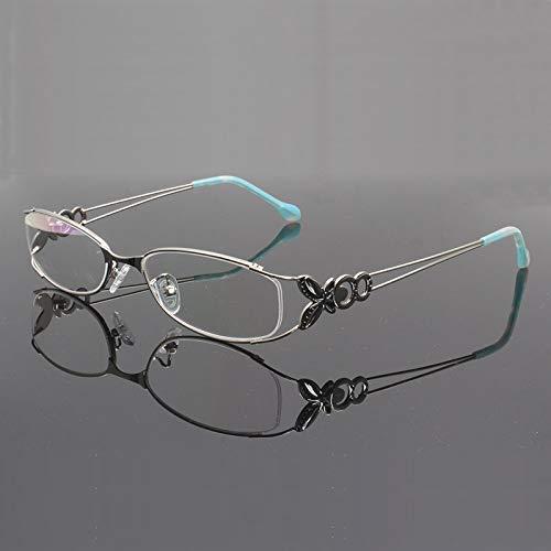 YMTP Frauen Metallbrillen Rahmen Mit Schmetterlings Dekoration Optischer Glas Rahmen Eyewear Schauspielen Optik