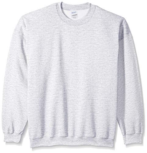 Gildan Herren Fleece Crewneck Sweatshirt, Asche, Mittel Crewneck Fleece Pullover Sweatshirts