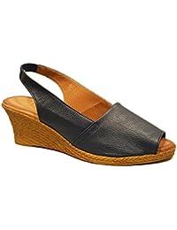 Oh my Sandals - Sandalia de mujer - Hecha en piel - Azul Marino - 3300