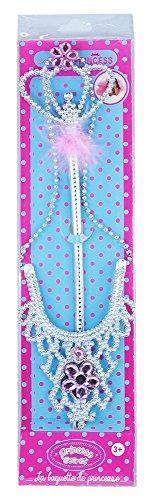 d Halskette im Set für kleine Königinnen - farblich sortiert in rosa oder lila (Niedliche Mädchen Elfen Kostüm)