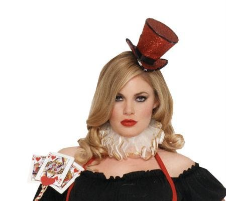 W Veil Rd (Rot Mini Glitter Top Hat)