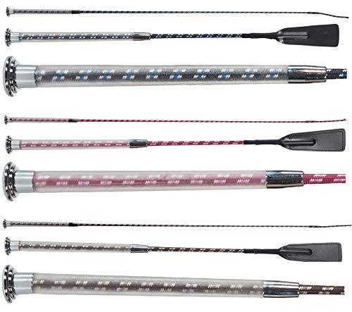 NETPROSHOP Reitgerte, Dressurgerte oder Springgerte mit Gelgriff Auswahl, Farbe:Schwarz, Groesse:50 cm