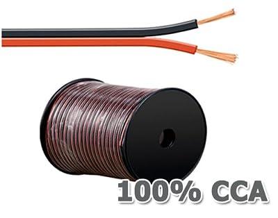 20m Lautsprecherkabel 2 x 0,75mm² rot/schwarz von MANAX bei Lampenhans.de