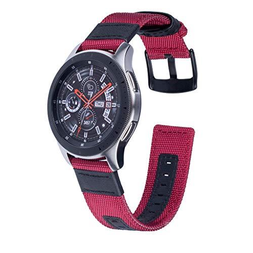 QIjinlook Armband-Armbandarmband, Kompatibel für Samsung Galaxy Uhr 46mm, Nylon wasserdicht angenehm weich, Fashion Vertraglich perfekte Passform Cowboy Design Style (B)