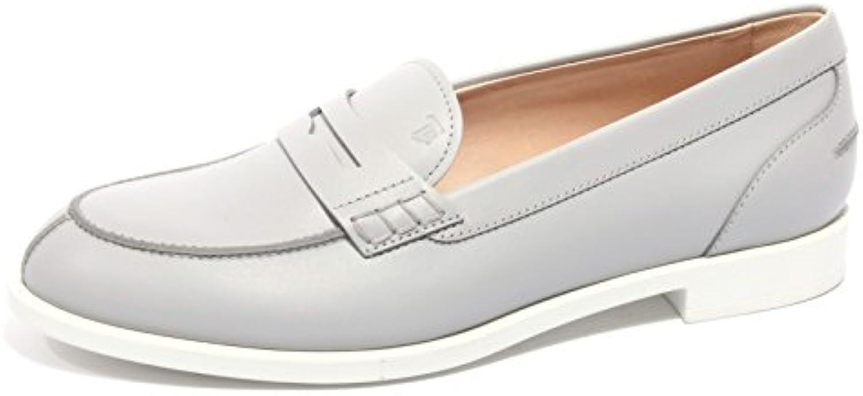 B2180 mocassino donna TOD'S scarpa grigio loafer shoe woman
