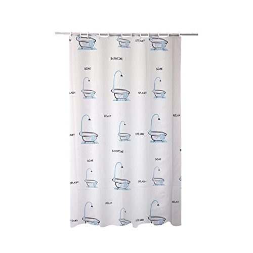FRANDIS Rideau de douche en PVC baignoire gris