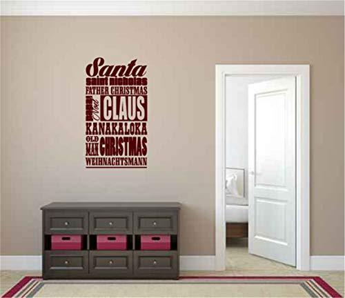 wandaufkleber baum foto wandaufkleber glitzer Wall Decal Quote Santa Claus For Living Room Bedroom -