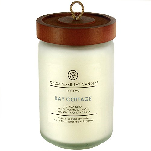 Candle Bay Kerze (Chesapeake Bay Kerze Heritage Collection Glas Kerze groß mit Deckel, L Jar)