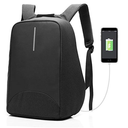 Coolbell Zaino Antifurto per Portatili Porta di Ricarica USB/Zaino per Studenti Leggero/Funzionale Borsa per Il Lavoro/Zaino Impermeabile per Uomini/Donne/Adolescenti (Noir)