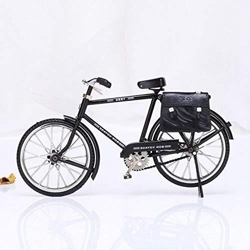 DAGE&NN Creativo Antiguo Modelo De Bicicleta Adornos Vintage para Hombre Bicicleta con Artesanía En Miniatura Más Ligera Inflable Decoración De La Oficina En Casa @ Black_22X7X14Cm