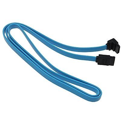 VANKER 1Pc Angle droit SATA III 3.0de haute vitesse 6.0Gb s de données par câble d'angle plomb de clip 50cm de VANKER