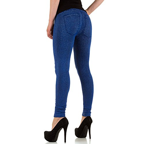 Damen Leggings, ELASTISCHE HIGH WAIST JEGGINGS LEGGINGS, SS-BF93200-1 Blau