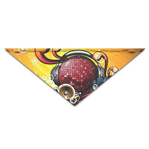 Gxdchfj Hundebandana-Schal-Dreieck-Schellfisch-Tanz-Licht-Kopftuch, Katzen-Geburtstags-Zusätze (Hut Tanz Kostüm)