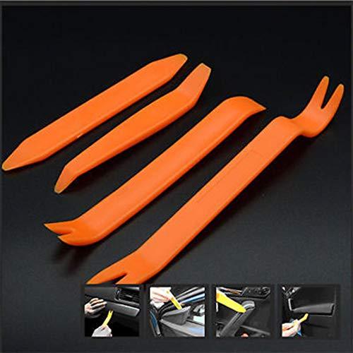LouiseEvel215 4 piezas de la puerta del coche del Panel de plástico Clip Clip Panel Dash Remover Pry herramienta Kit -