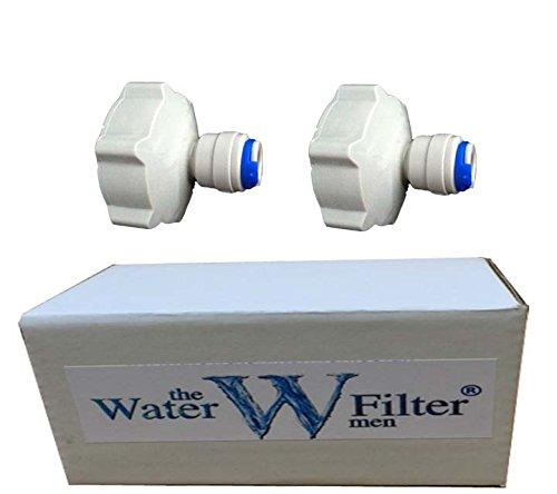 2x 1,91 cm (3/4 Zoll) bis 0,64 cm (1/4 Zoll) Steckanschluss für Gartenwasserhahn, Kühlschrank-Gefrierfach, Umkehrosmose, Wasserfilter. - Tippen Kühlschrank