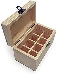 SinceY Caja organizadora aceites Esenciales, Caja en Madera ecológica de almacenaje de Botella de Botella