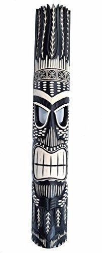 Interlifestyle Tiki Maske im Hawaii Look in 100cm Länge - Wandmaske Holzmaske