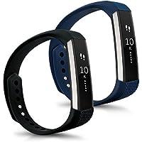 kwmobile 2in1:2x Sport braccialetto sostitutivo per Fitbit Alta in colore