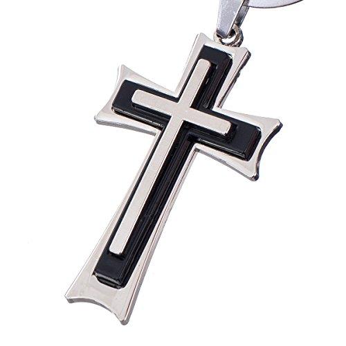 """nanomondo Schlüsselanhänger """"Kreuz"""" aus Metall N1021"""