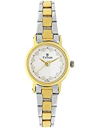 Titan Analog White Dial Women's Watch -917BM01