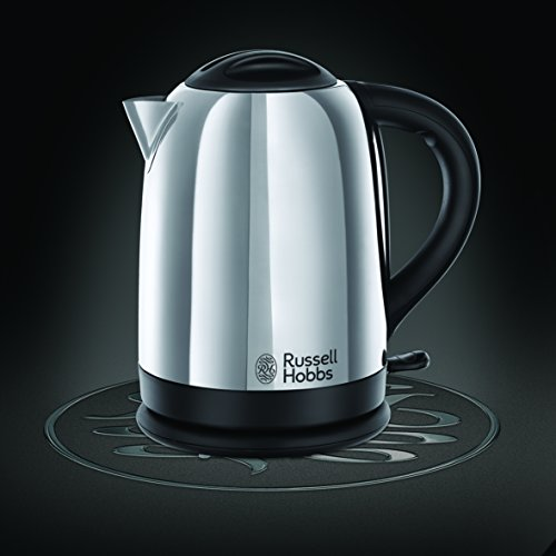 Russell Hobbs Lincoln Kettle and 2-Slice Toaster 21830 – Polished Stainless Steel Silver, Pack of 2