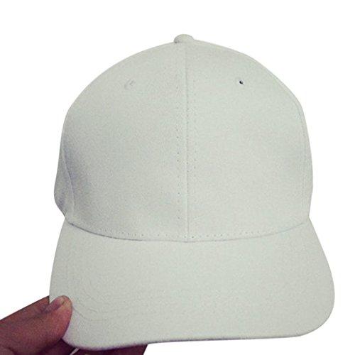 Preisvergleich Produktbild URIBAKY Stickerei Baumwolle deckelhalter Ikea Edelstahl kugelgrill schranktür Baseball Deckel Snapback Kappen Hüfte Hop Hüte (Weiß)