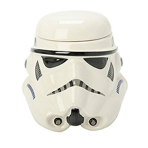 ZUEN Ceramic Mug Creative Personality Star Wars Warrior Black Soldier White Coffee Cup Ceramic Brand, White