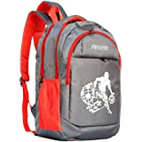 DREAMZ STYLISH 28 Ltrs Grey + Red Casual Backpack I Laptop Bags