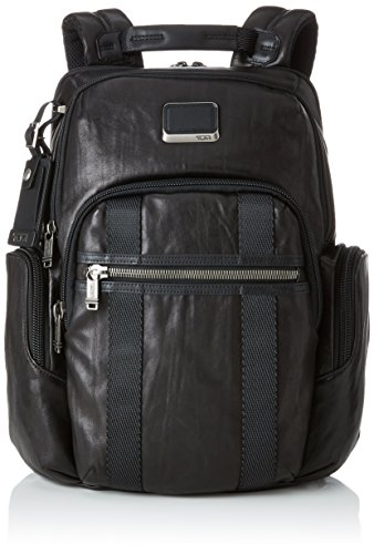 "Tumi Alpha Bravo Nellis Leather Backpack 15"" Mochila Tipo Casual, 41 cm, Negro (Black Leather)"