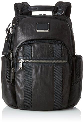 "Tumi Alpha Bravo Nellis Leather Backpack 15"" Mochila Tipo Casual, 41 cm, Negro (Black Leather)"