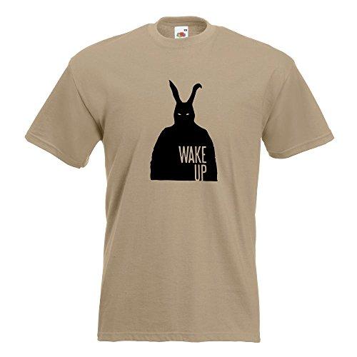 KIWISTAR - Frank - Bunny Man T-Shirt in 15 verschiedenen Farben - Herren Funshirt bedruckt Design Sprüche Spruch Motive Oberteil Baumwolle Print Größe S M L XL XXL Khaki
