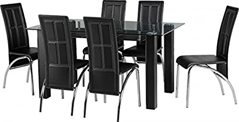 Stanton Dining Set in Clear