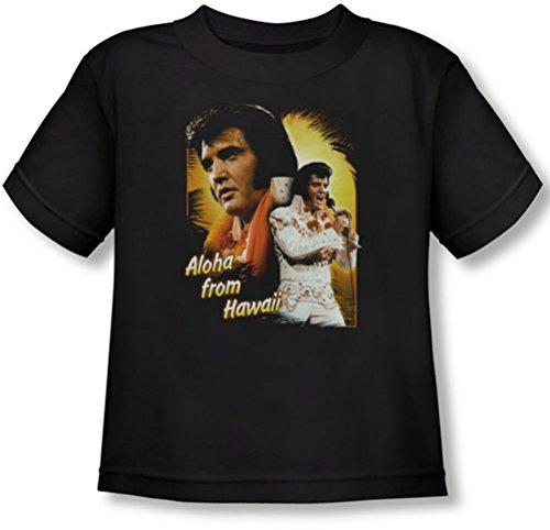 Elvis Presley - Kleinkind Aloha T-Shirt in Schwarz, 4T, Black (Jungen Shirt Aloha)