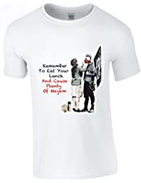Banksy Punk Mum T Shirt With Mayem Text