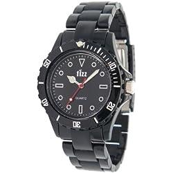 Fizz 5010142 Men's Black Plastic Strap Watch