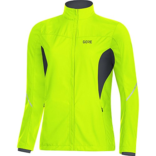 GORE WEAR Damen R3 Partial Windstopper Jacke, Gelb (Neon Yellow/Black), 36 (Herstellergröße: S)