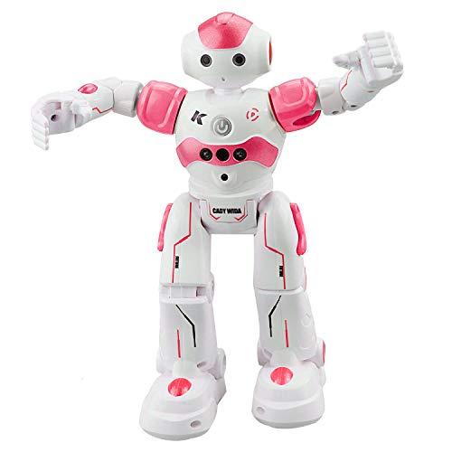 Siebwinn Roboter Kinder Spielzeug, JJRC R2 Intelligente Roboter Spielzeug RC Control Geste Sensor Action Display Singen Tanzen USB Lade Kinder Geburtstagsgeschenk (Rosa)