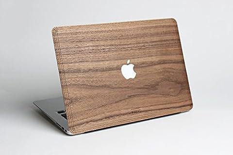 WOODWE est un étui protecteur fait de bois véritable pour Apple MackBook Air Pro 11 13 15 po – Recouvrement en peau boisée autocollante de noyer pour coque arrière - Macbook Wood Case (Pro 13 ( … - 2012) – TOP & BOTTOM,