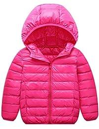 e75e9f9dcd Aden Kinder Steppjacke mit Kapuze Daunenjacke Leicht Übergangsjacke Winter  Jacket Wintermantel Mantel Outerwear