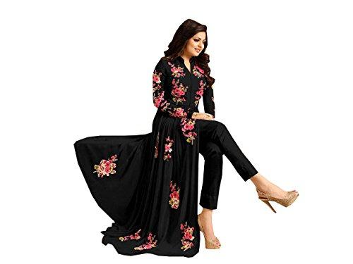 Special Mega Sale Festival Offer C&H Beautiful Designer Black Georgette Anarkali Salwar...