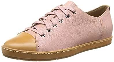 Clarks Flounce Free, Baskets mode femme - Rose (Dusty Pink Lea), 36 EU (3.5 UK)