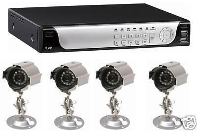 J2E, 4 EXTERNE FESTPLATTE, 500 GB, CCTV-KAMERA, 4-WEGE, H.264 DVR-KIT -