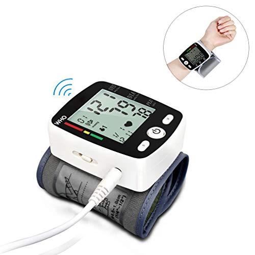 ZUZEN Elektronisches Blutdruckmessgerät Handgelenk-Blutdruckmessung USB-Aufladung Genaue Daten Großbildanzeige Eine Taste zum Abschließen des Tests
