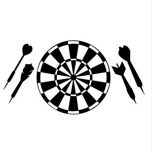 Czxmp Kinderzimmer Dekorative Vinyl Abnehmbare Dart Sport Spiel Aushöhlen Dartscheibe Wandaufkleber Ausgangsdekor Club Restaurant Tapete82 * 43 Cm