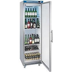 Lec commerciale crg400st Platinum vetro porta frigorifero, 400l