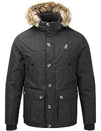 Kangol Herren Kingsize Big Größe gesteppt gepolstert Fashion Parka Winter Jacke Mantel 2X L, 3X L, 4X L, 5X L
