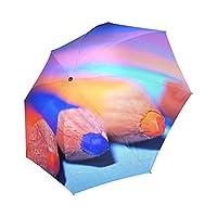 Kitchor Customized Color Pencils Rainy/Sunny Foldable Umbrellas