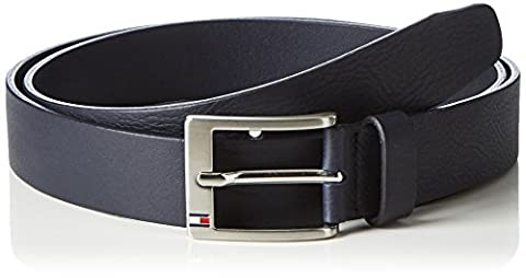 Tommy Hilfiger New Aly Belt 3.5, Ceinture Homme, Bleu (Tommy Navy), 110 cm (Taille Fabricant: 110)