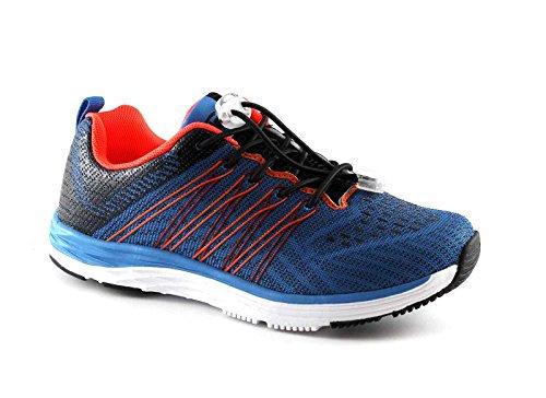 GRUNLAND CERS SC2725 azzurro scarpe bambino sneakers elastico memory Blu