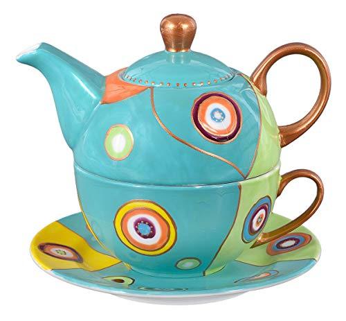Aricola Tea for One - Teeset Susi mit 400ml. Handbemaltes Porzellan Teeservice für eine Person.